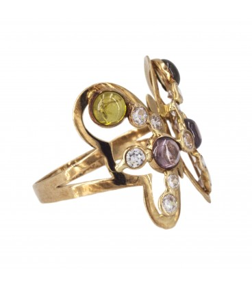 Golden Butterfly Ring