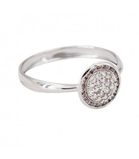 Bague en Or Blan 18K Illuminer