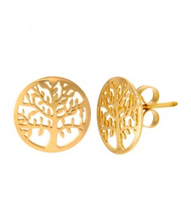 Tree of Life Earrings in Gold 18K