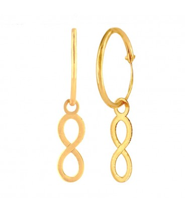 Hoop Earrings with Infinity Gold 18K