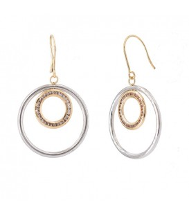 Bicolor 18K Circularie Gold Earrings