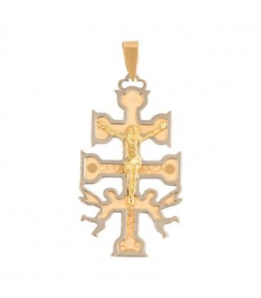 Big Caravaca Cross Pendant in 18K Gold