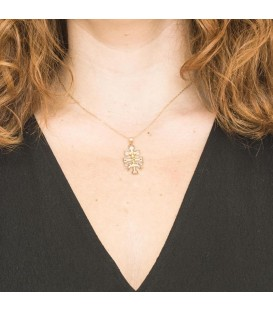 Big Caravaca Cross Pendant in Gold
