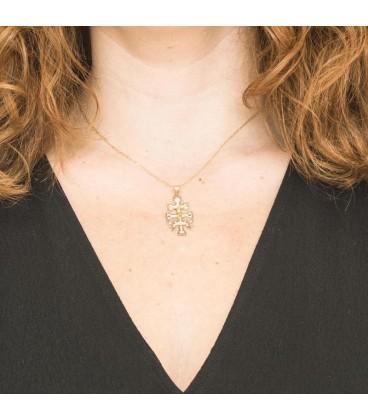 Big Caravaca Cross Pendant in Gold