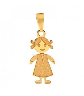 Big Girl Gold Pendant 18K Mate