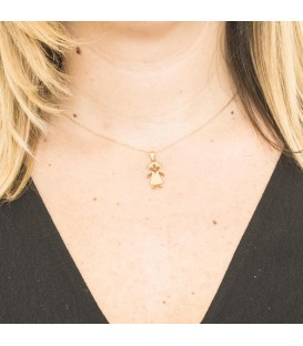 Collier fille grande Or 18K Mat