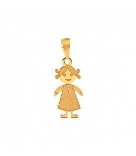 Small Girl 18K Gold Pendant