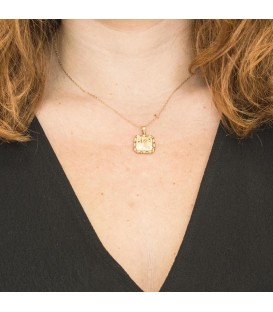 Love Gold Pendant with Zirconite