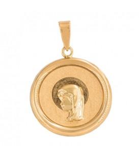 Medalla Virgen de Oro 18K