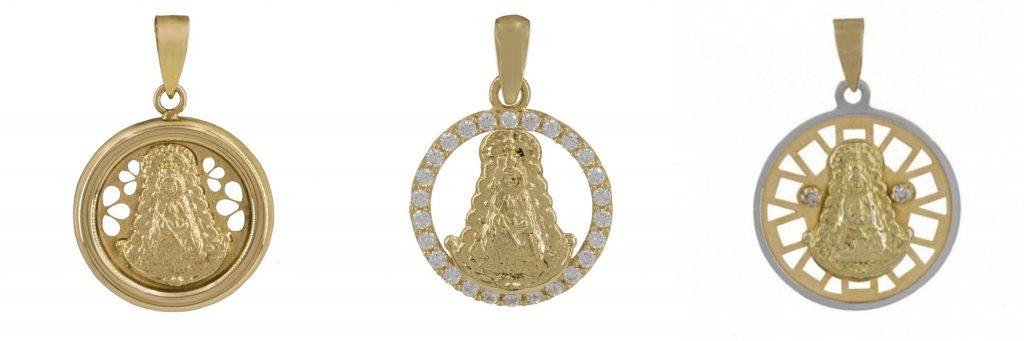 Medallas con forma circular Virgen del Rocío