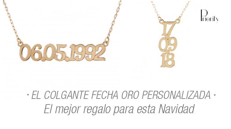 El colgante fecha oro personalizada, el mejor regalo