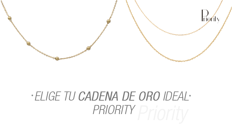Elige tu cadena de oro ideal Priority