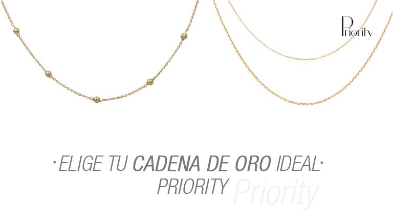 Elige tu cadena de oro ideal Priority