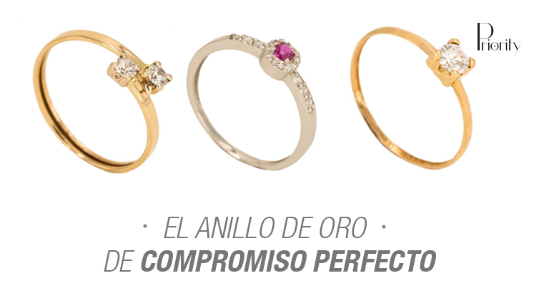 El anillo de oro de compromiso perfecto