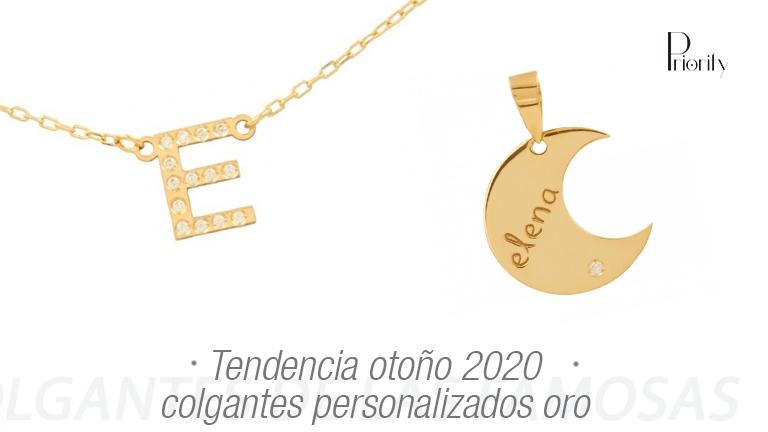 Tendencia otoño 2020: colgantes personalizados oro