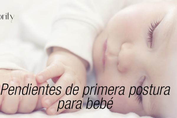 Pendientes de primera postura para bebé