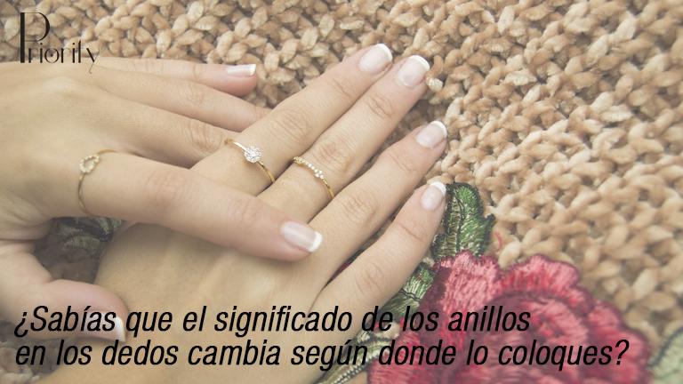 ¿Sabías que el significado de los anillos en los dedos cambia según dónde lo coloques?