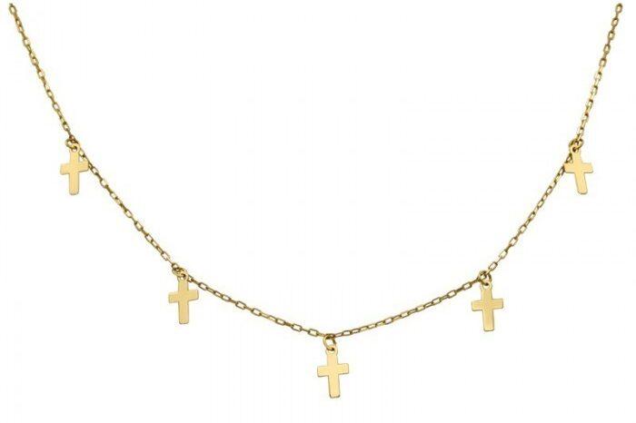 Gargantilla con charms de cruces