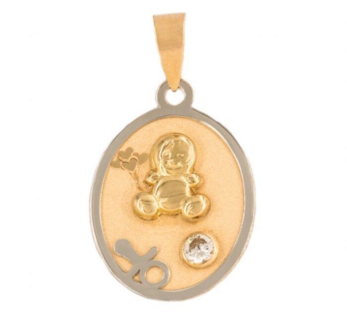 medalla de oro bebé