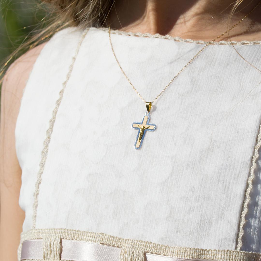 Cruces de oro Comunión