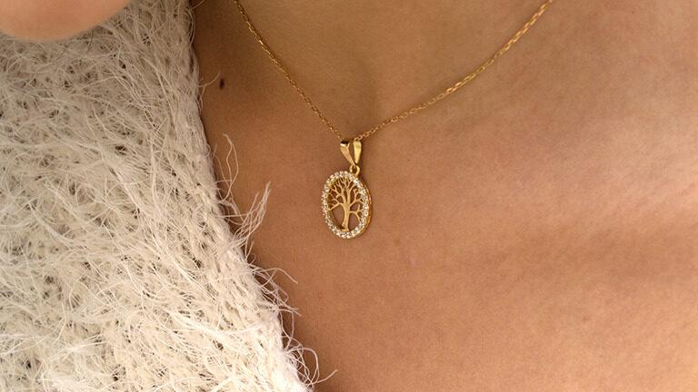 5 versiones personalizadas del colgante de oro del árbol de la vida personalizados. ¡Elige tu favorita!